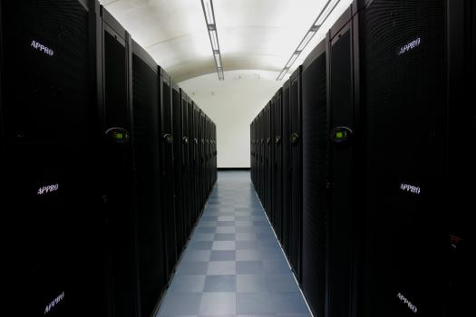 5) At one end of the building a wall is enclosed to create an area for the server farm - the computing power behind a modern formula one car.