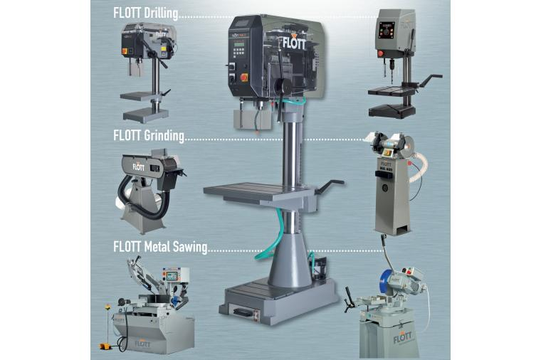 1) The range of Flott high specification equipment from Damar includes machines for drilling, sawing, grinding and sanding.
