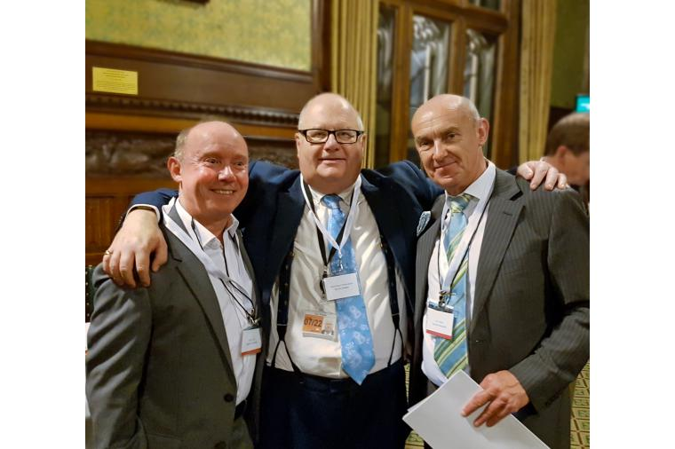 1) Steve Allen (left) with Sir Eric Pickles and Jon Wilson at Westminster