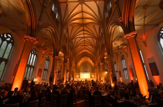 2) The exclusive black-tie event was held at Blackburn Cathedral where the winners were announced and celebrated on stage