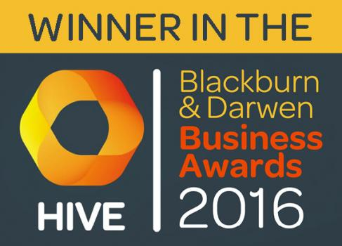 3) Official logo of the Hive Blackburn and Darwen Business Awards