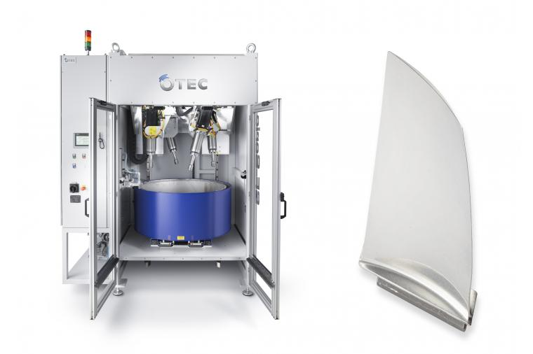 1) OTEC stream finishing machines have been used to create bespoke surface finishing processes for aerospace component manufacturers