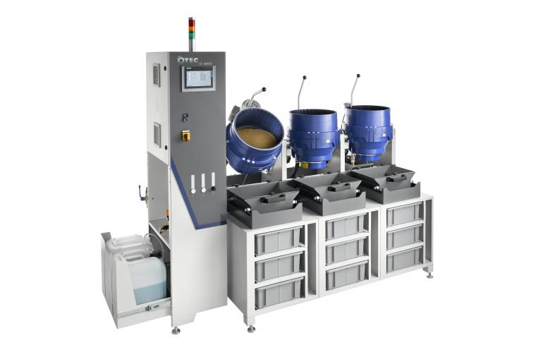 1) The new OTEC series disc finishing machines has a modular design with integrated storage