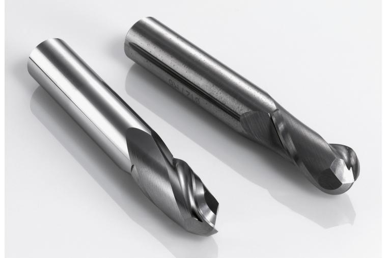 1) Processing HSS and carbide tools in an Otec DF machine removes burrs, ensures a uniformed honed edge and smoother surface finish