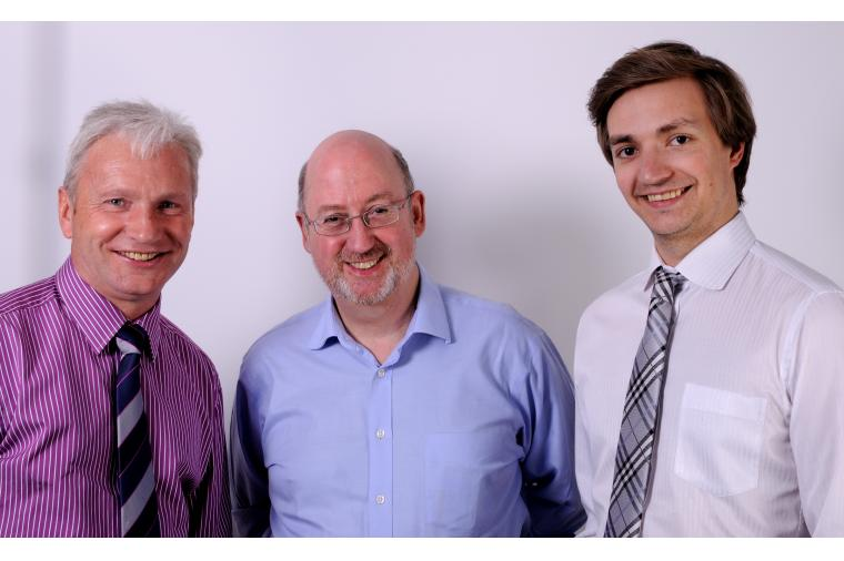 1) Left to Right, Charles Walker (manager Forcam UK), Kevin Ainsworth (partner Ainsworth Maguire), Vincent Post (manager of international marketing and PR, Forcam Gmbh).