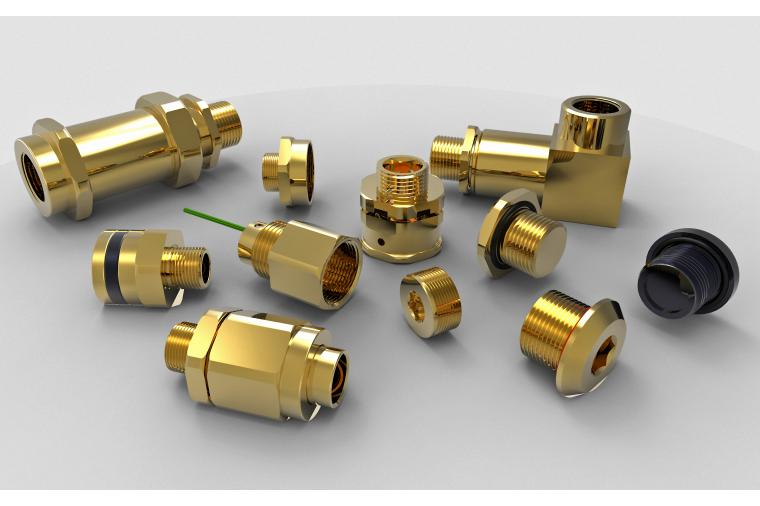 1) Compliant with international standards and approvals, Hawke thread adaptors, reducers and fittings enable interconnection of dissimilar sized connections on cable glands and enclosures