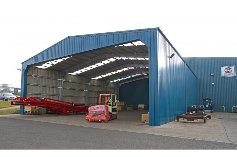 1) Smart Space have provided Mitchell Powersystems with a 20 by 25 metres open-ended covered loading bay