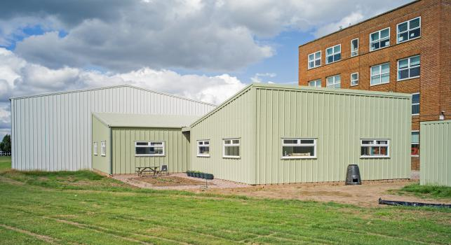 1) The light-weight steel frame three classroom building took Smart Space just 15 weeks to construct at Kingsbury School