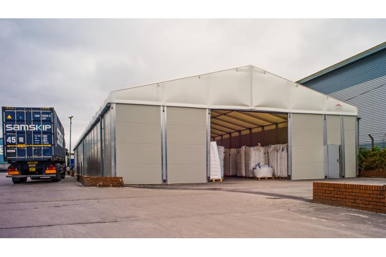 1) The Smart Space temporary building solves an immediate capacity problem and can provide years of use for Resin Handling Services