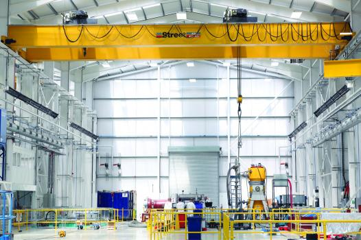 "3) Street Crane Company are the UK's largest manufacturer of overhead, gantry and jib cranes. Their cranes are an integral part of the manufacturing process at Hayward Tyler's ""centre of excellence"" in Luton."