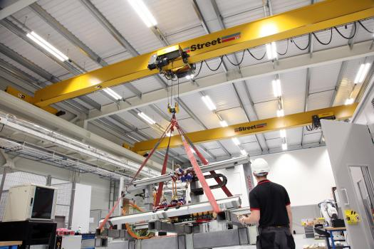 4) Advanced hoists and controls are exported globally by Street Crane to a network of independent crane builders.