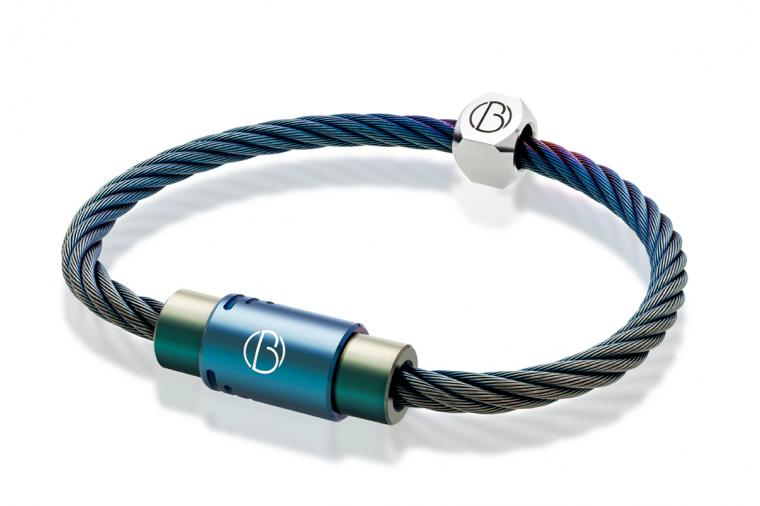 1) Wallwork PVD coating used to produce Petrol Blue - Bailey of Sheffield stainless steel bracelet