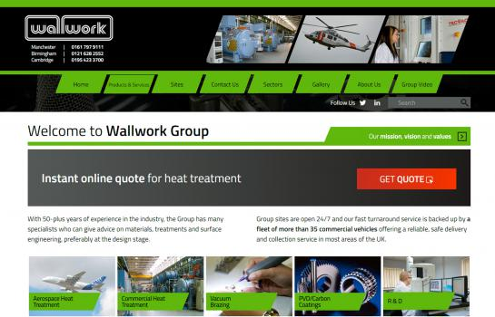 3) Wallwork Group provide a on-line quoting service for aerospace heat treatment
