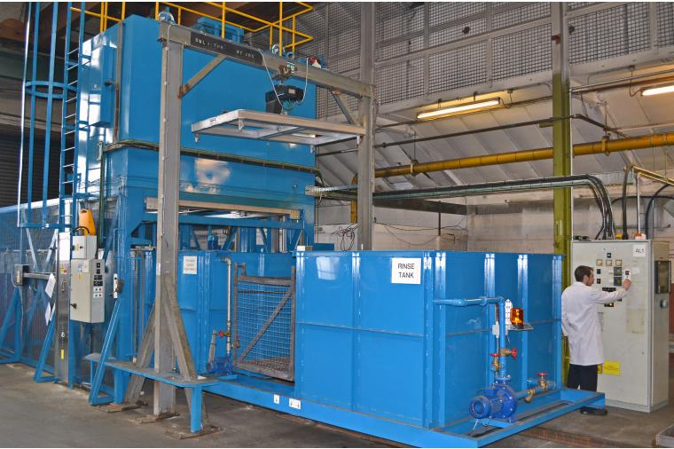 1) With a 800 Kilo capacity, the new non ferrous furnace at Wallwork Heat Treatment will process aluminium and magnesium products