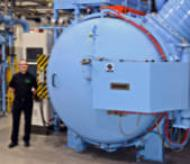 Peter Cookson and the new SECO Warwick vacuum furnance