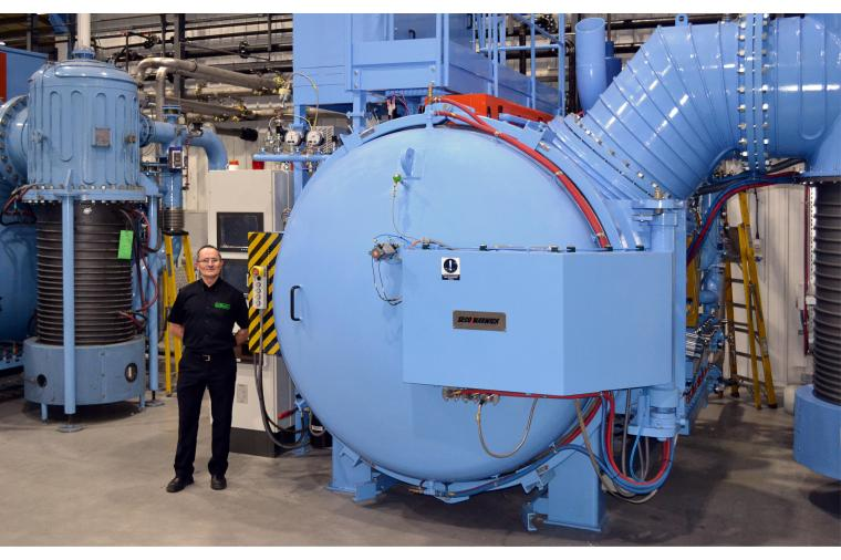 1) Peter Cookson pictured with the new SECO Warwick vacuum furnance at Wallwork Cambridge