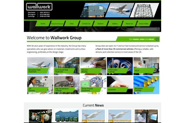 1) The Wallwork Group's new web site brings together their complete portfolio of services in one easy to navigate place