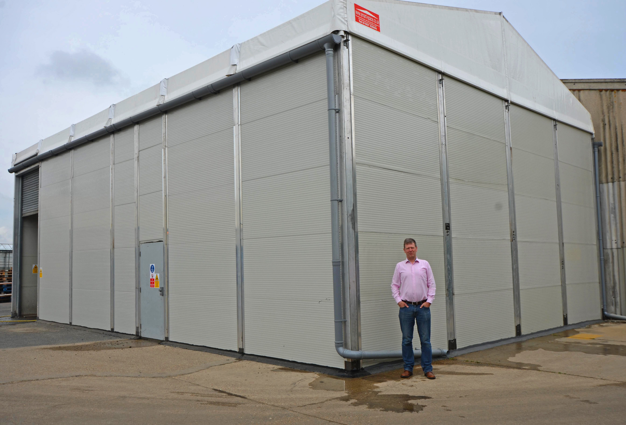Temporary Building from Smart Space Adds Extra Cold Store